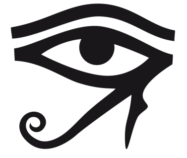 The Right Eye of Ra (Also known as the Solar Eye corresponds to literal and physical sight.)