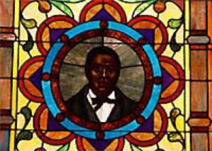 First African Baptist Sanctuary stain glass windows