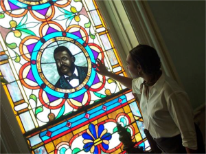 First African Baptist Stained Glass Window