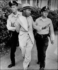 Martin L. King Jr. Arrested