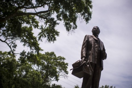 CHARLESTON, SC – JUNE 23: A Denmark Vesey monument is seen in Hampton Park in Charleston, SC on Tuesday, June 23, 2015. Denmark Vesey was founder of Emanuel A.M.E. Church who attempted to lead a slave rebellion in Charleston. (Photo by Jabin Botsford/The Washington Post)