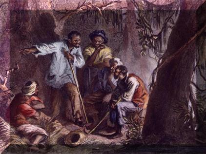 Kidnapped-Africans-forced-to-labor-as-slaves-were-the-first-workers-to-organize-revolts-Painting-shows-Nat-Turner-plotting-uprising-againt-slaveholders-he-was-later-hanged