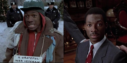 Billy Ray Valentine (Eddie Murphy) symbolizes white people before slavery