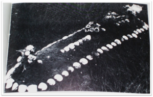 Afro-American burial enclosed in seashells, 1975, South Carolina.